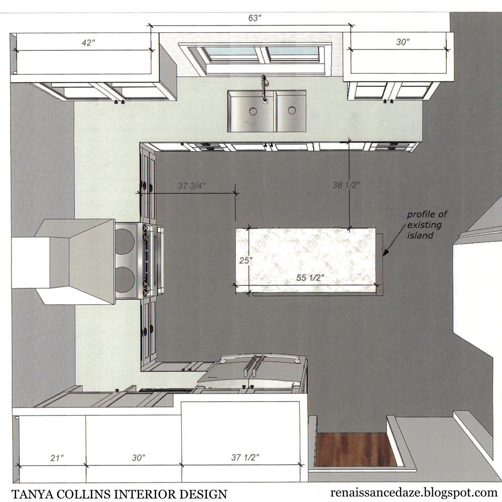 Wonderful Renaissance Daze: Kitchen Renovation: Updating A U Shaped Layout
