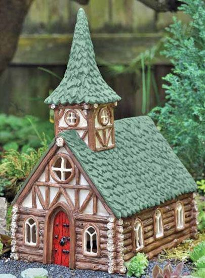 Fiddlehead Fairy Village Woodland Church available at The Garden ...