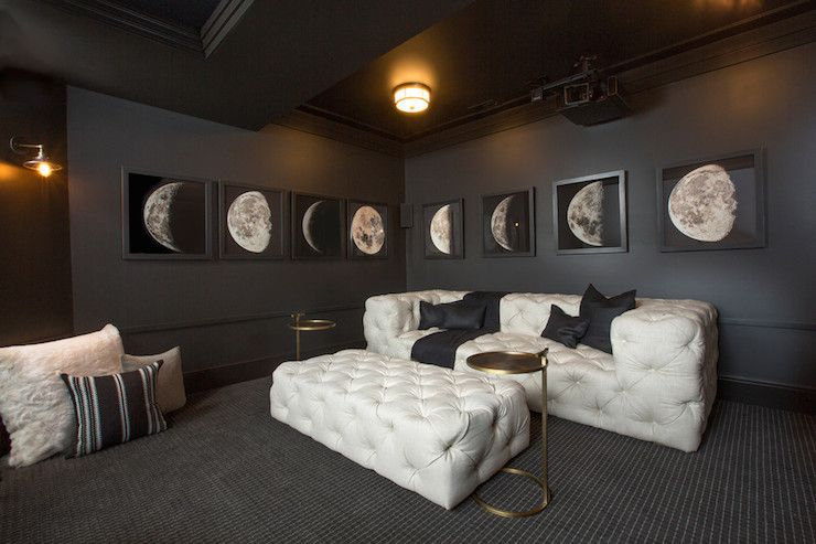 Rh Homes Media Rooms Restoration Hardware Obsidian Soho