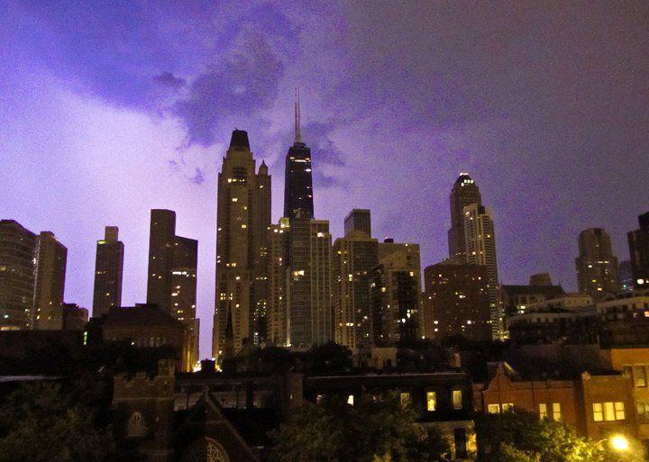 An amazing lightning storm I saw..