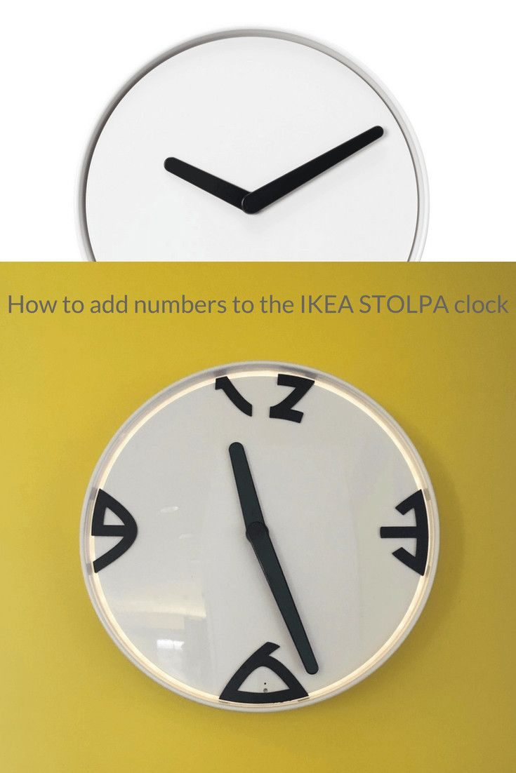 Add numbers to your STOLPA Clock | Crafts & DIY~ Home Decor ...