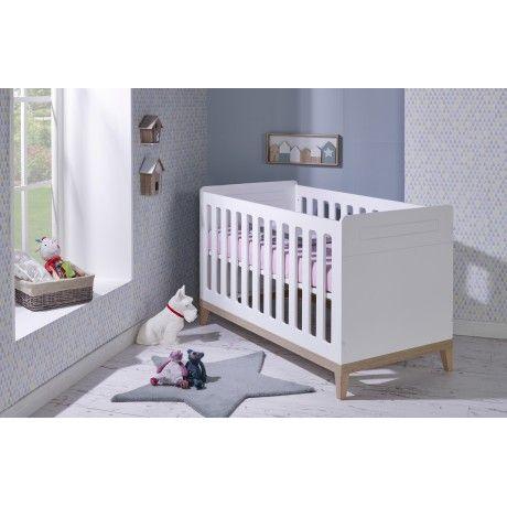 Lit Bebe Evolutif 70x140 Siki Blanc Cribs Cribs Bed Baby