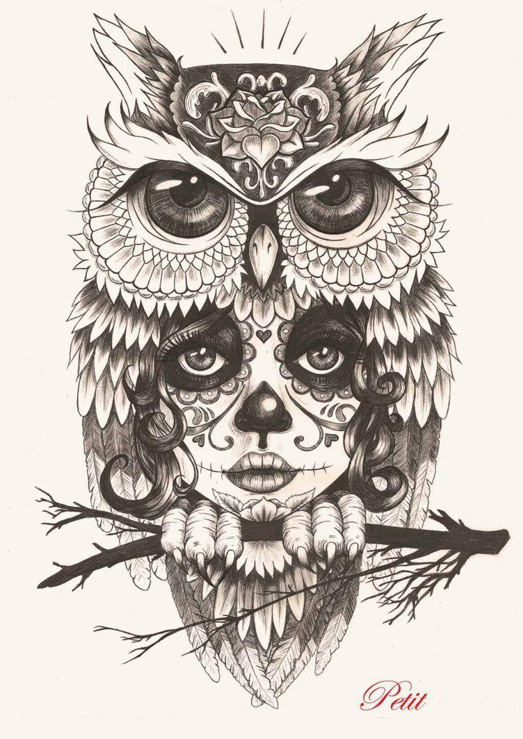 buho catrina by bgirlpetit on deviantart tatuajes