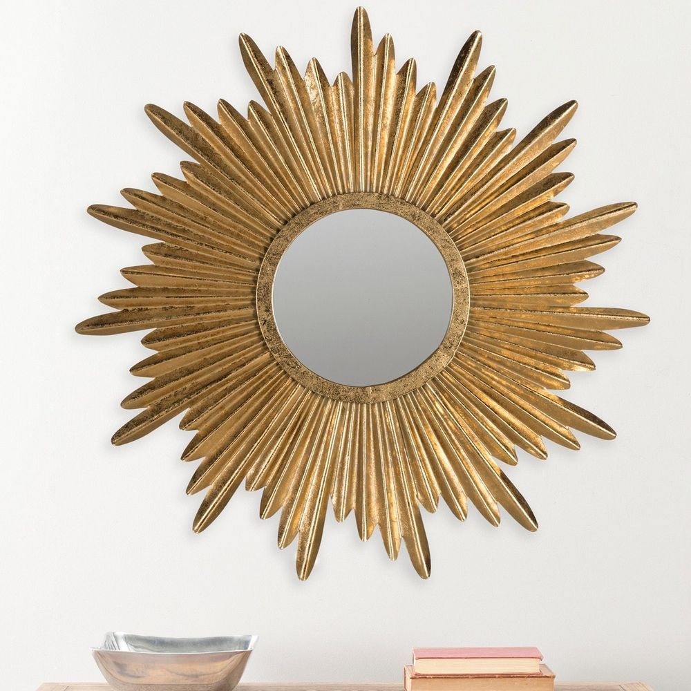 Crafted Of Iron And Wood Artfully Finished In Antique Gold