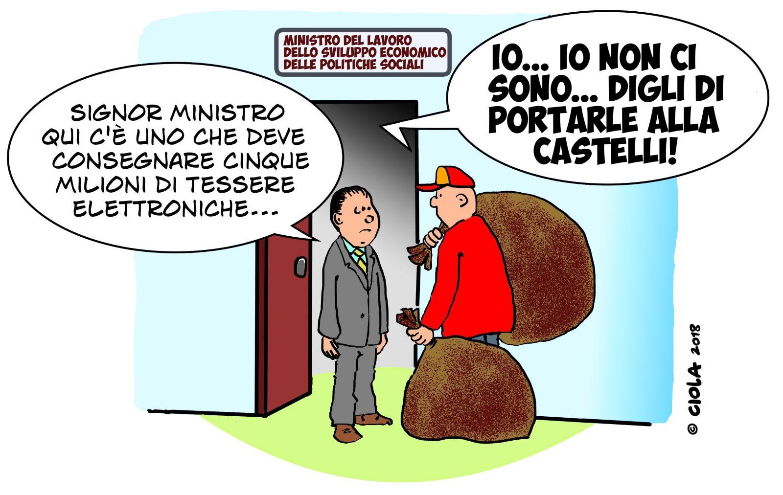 Reddito Di Cittadinanza Vignetta Vignette Cittadinanza