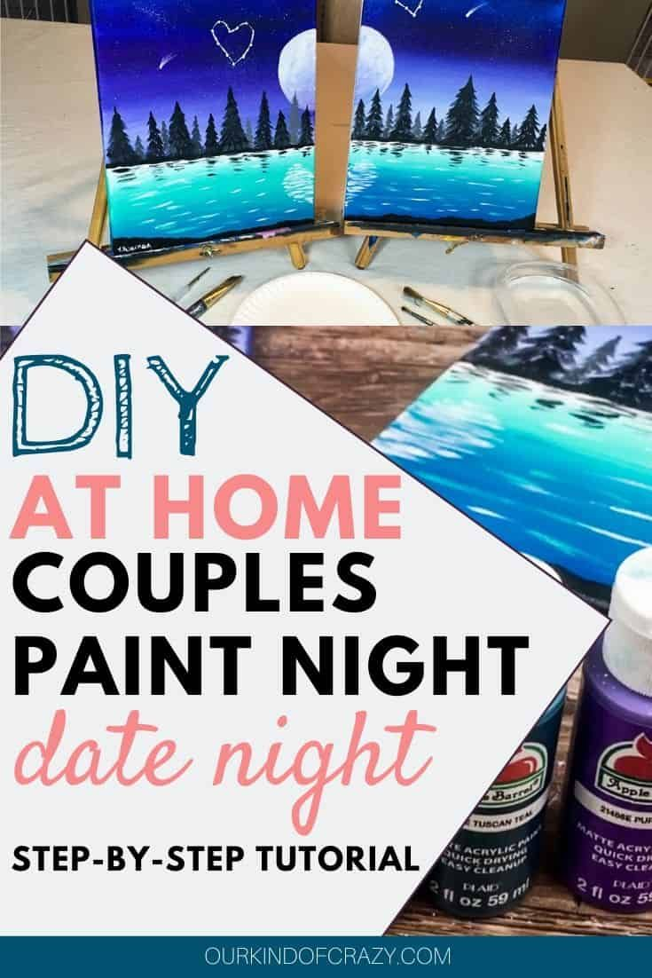 Couples painting date night at home paint sip couples