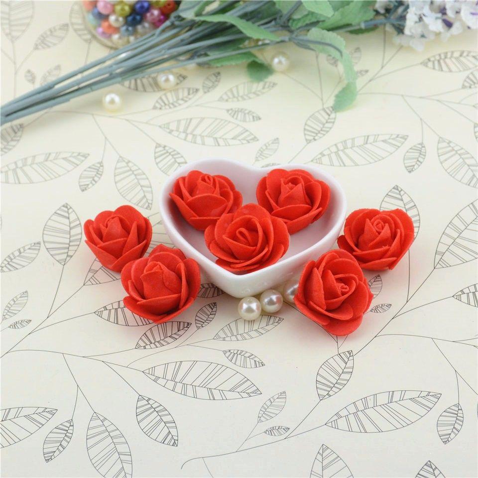 Дешевые 10 шт. мини пенополиэтилен искусственный розовыми цветами для свадьбы украшения автомобиля DIY венок декоративные скрапбукинг поддельные цветы -