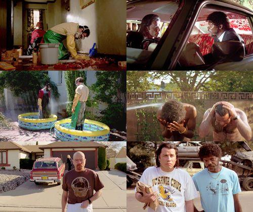 Visual Parallels: BREAKING BAD & PULP FICTION (via http://cinematiccorner.blogspot.gr/2013/04/visual-parallels-breaking-bad-pulp.html)