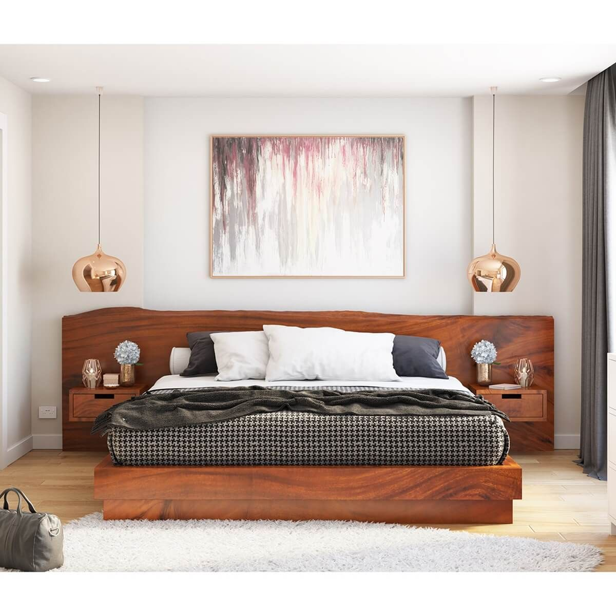 Batesville Solid Wood Platform Bed Full Size Live Edge