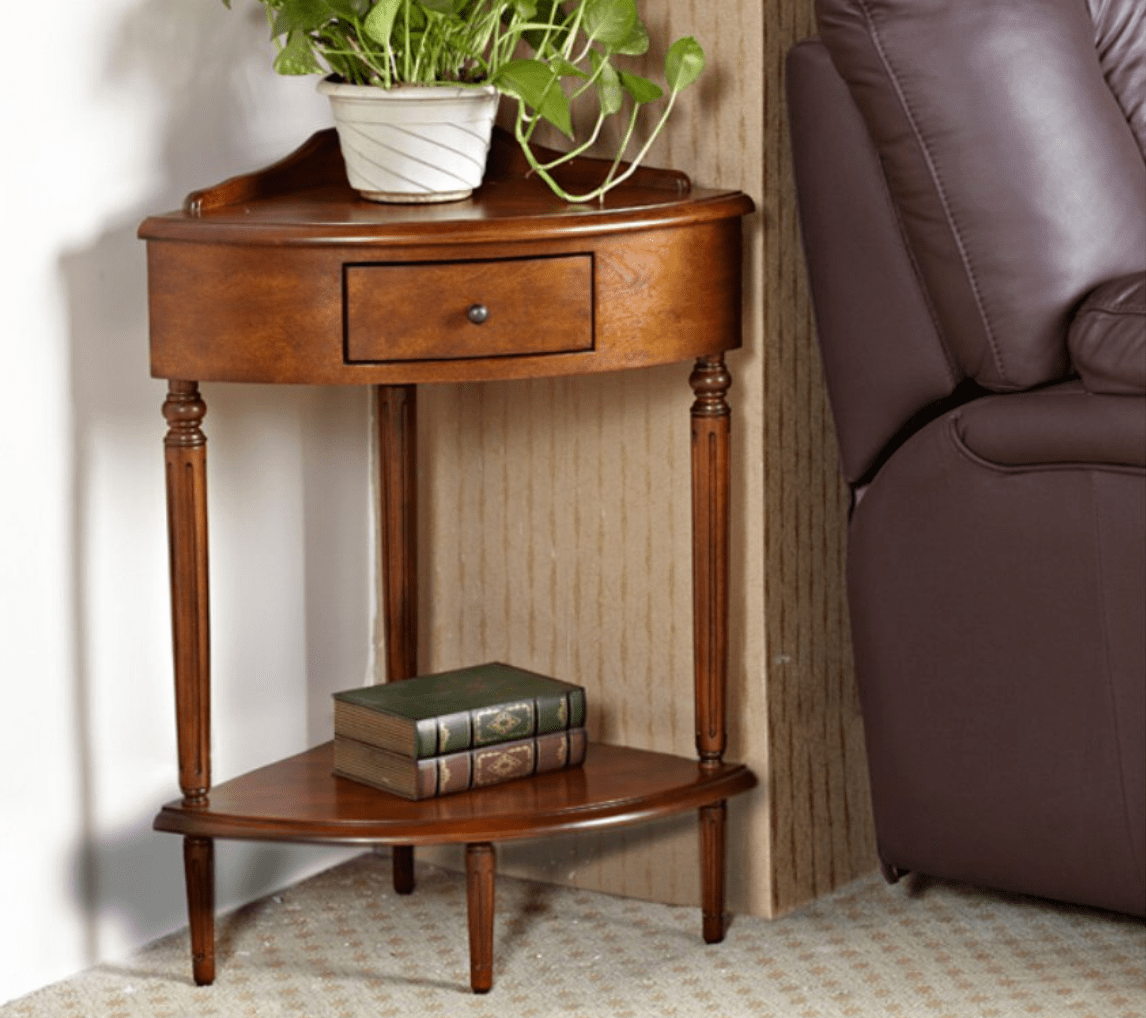 - Small Corner Accent Table In 2020 Wooden Accent Table, Corner