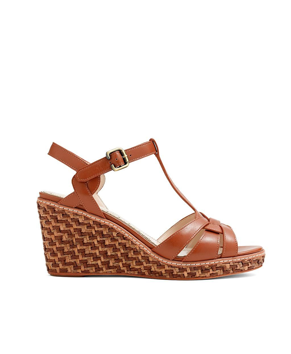 Calfskin Straw Wedge | Brooks Brothers