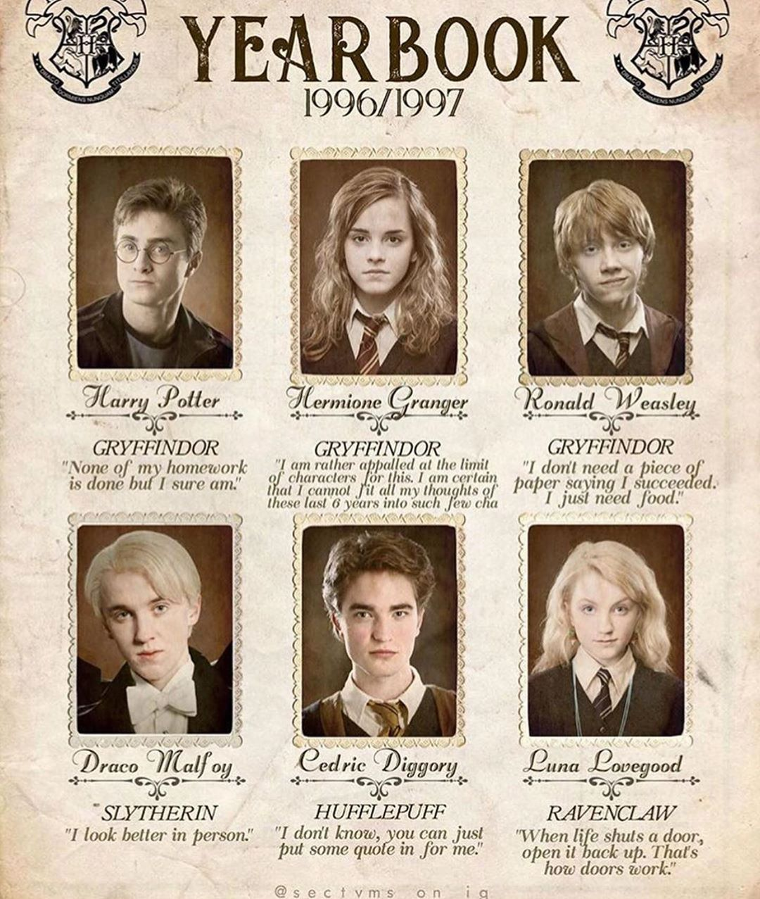 Hogwarts Yearbook Harry Potter Characters Harry Potter Pictures Harry Potter Jokes