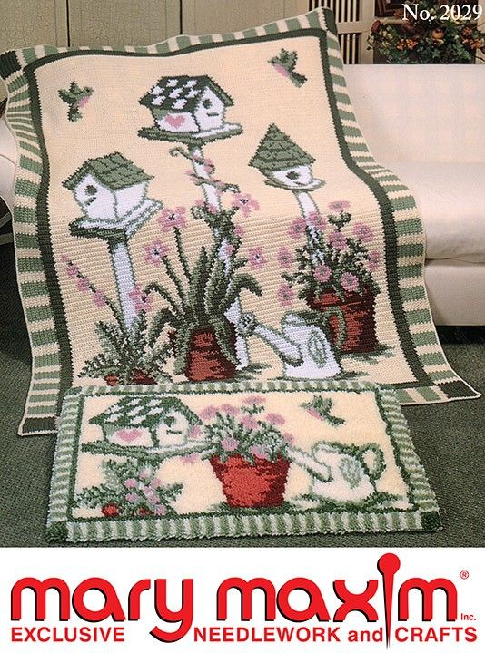 Country Garden Afghan Pattern | Afghans | Afghan patterns, Crochet