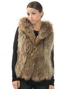 100% Raccoon Fur Vest
