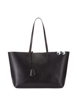 ANYA HINDMARCH Ebury Shopper Leather Tote. #anyahindmarch #bags #hand bags #suede #tote #lining #