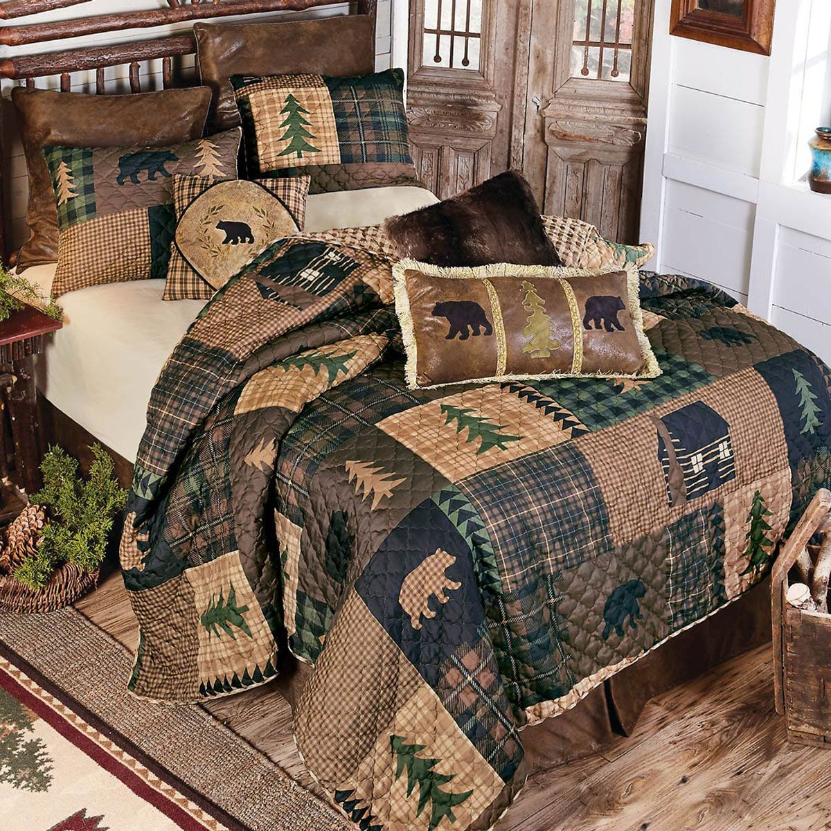 Black Bear Pines Quilt Set Queen In 2020 Complete Bedroom Set Comforter Sets Bedding Sets
