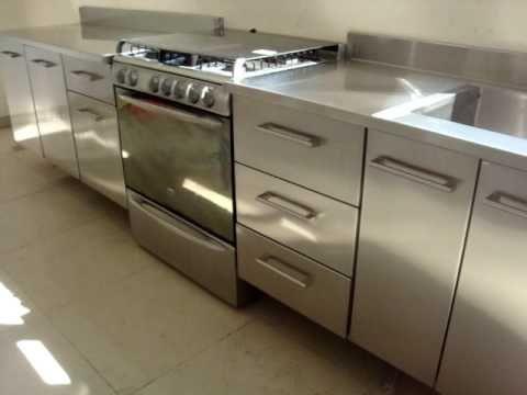 muebles de cocina en acero inoxidable - Buscar con Google ...