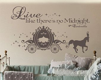 Cinderella schlafzimmer ~ Cinderella carriage vinyl wall art sticker with live like there s