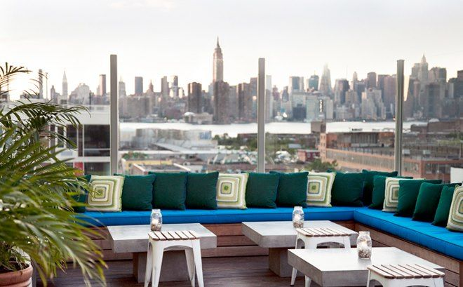 Bar with a view of Brooklyn!