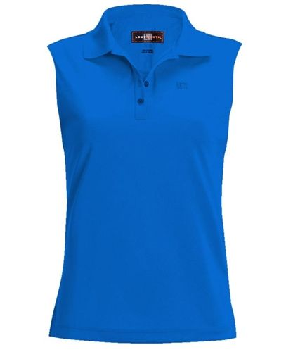 a076214c6a Womens Golfing Shirts by Loudmouth Golf - Essential Diva Blue Sleeveless.  Buy it   ReadyGolf.com
