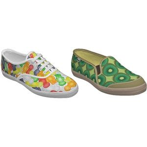 Gummy bear and kiwi sneakers. Food Sneakers Bacon, Hot Dog, Pizza etc Eat Me Daily