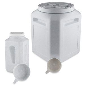 Top Paw Airtight Pet Food Storage Container Size 65 Qt Clear