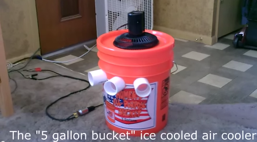 "Homemade Air Conditioner DIY The ""5 Gallon Bucket"" Air"
