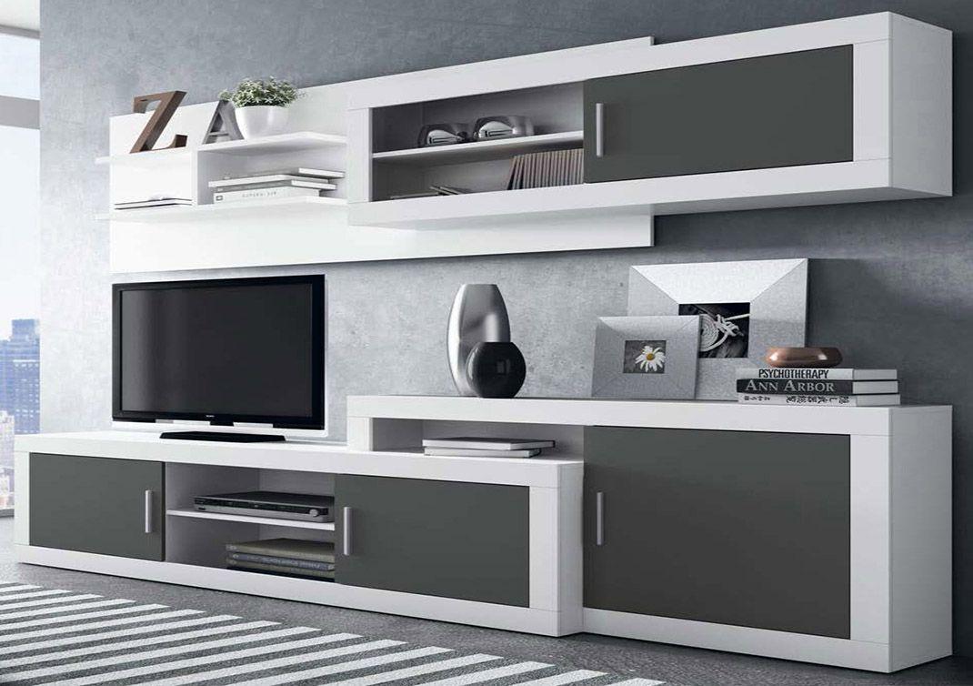 Mueble de sal n moderno y extensible para que lo adaptes for Muebles salon madrid