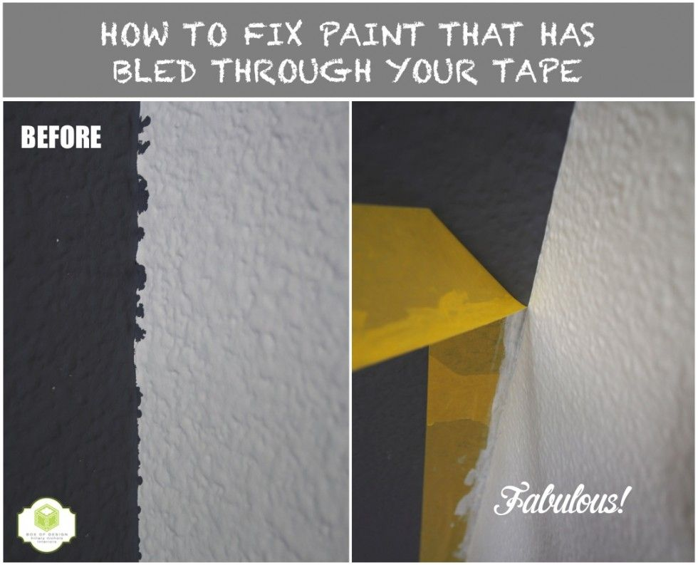 How To Fix Paint That Has Bled Through Your Tape Tips From Box Of Design Painting Tips Tape Painting Thankful For Friends
