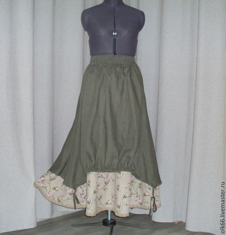 Модные льняные юбки