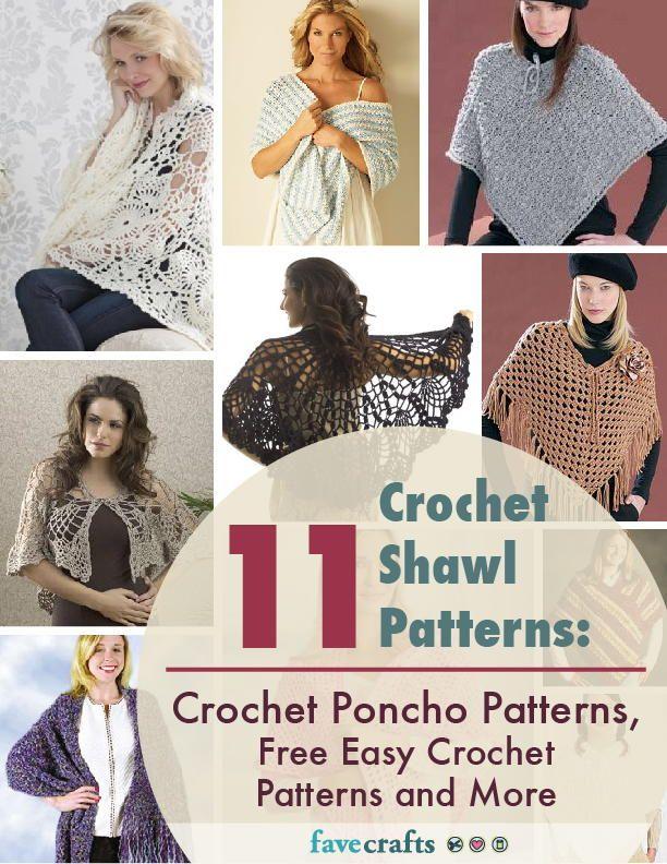 11 Crochet Shawl Patterns: Crochet Poncho Patterns, Free Easy ...