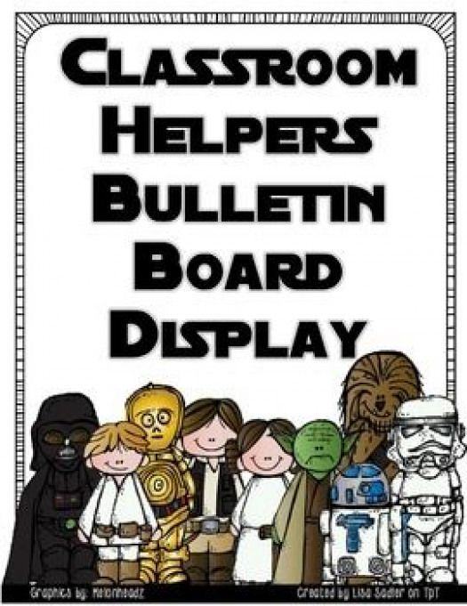 Perfect for your Star Wars themed classroom! This download includes a header that measures 8 1/2 x