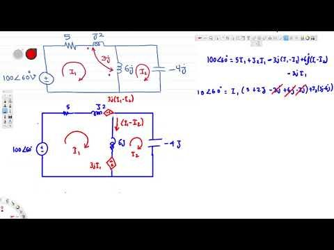 Magnetically Coupled Circuit Example  Circuit Analysis  Circuit