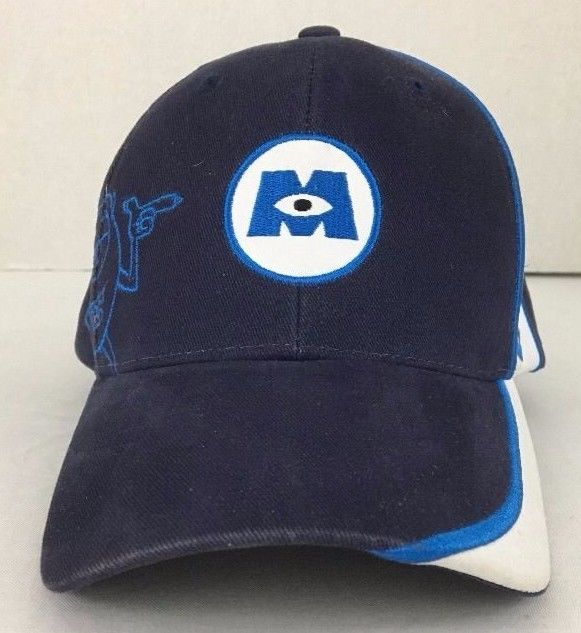 Rare Mike Wazowski Monsters Inc Disney On Ice Youth Hat Cap Cotton Blue Embroide Disney Youth Hats Ball Cap Hats