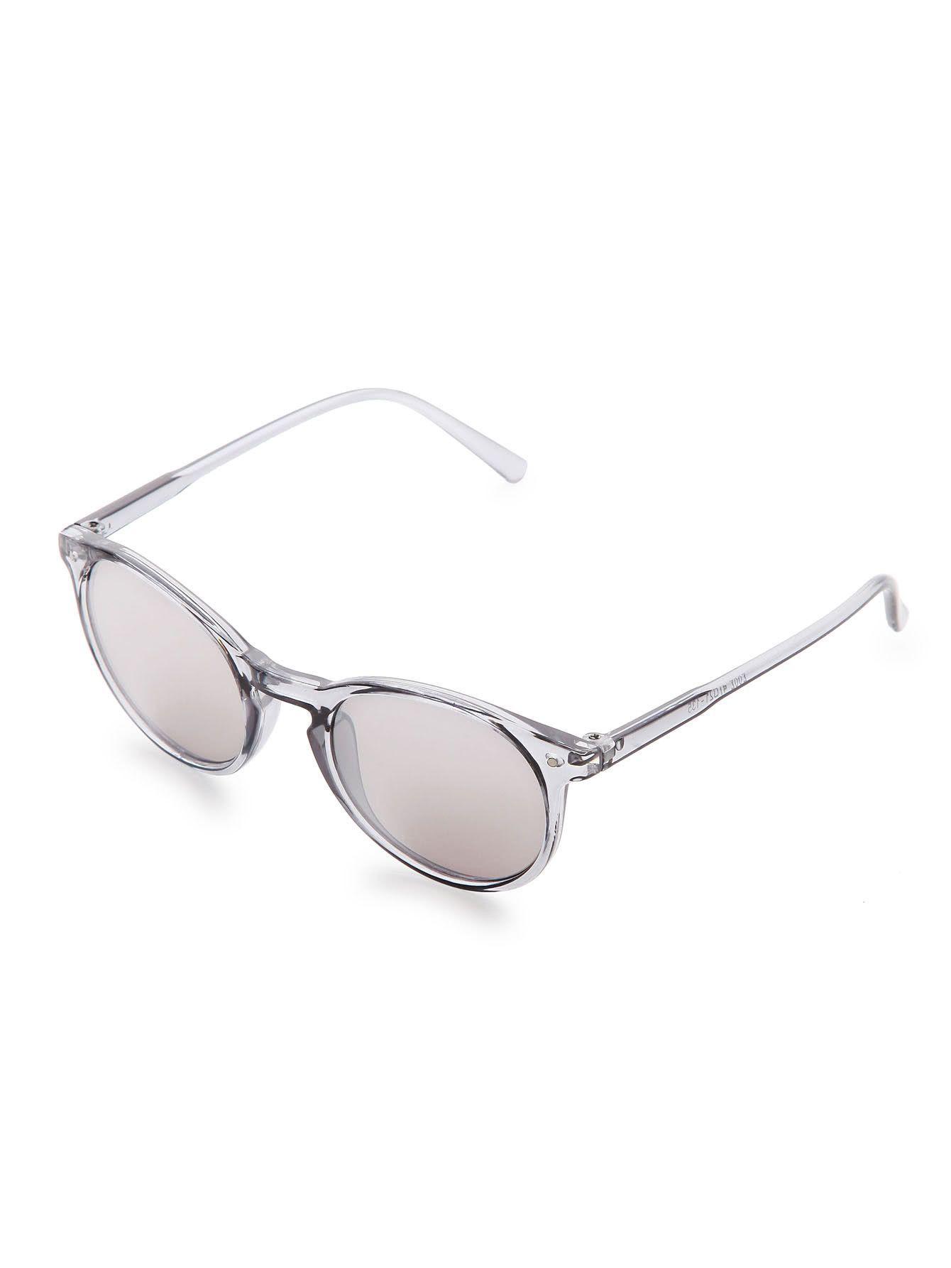 Sliver Frame Grey Lens Sunglasses | ! ♕ Gift Ideas ! ♕ | Pinterest
