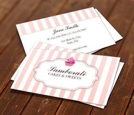 Cupcake bakery pink cute elegant modern business card template this cupcake bakery pink cute elegant modern business card template this great business card design is available fbccfo Gallery