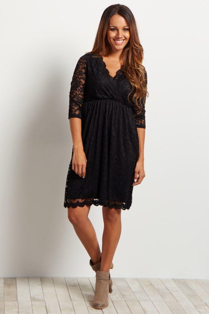 59a46affb98c0 Black Lace Overlay Wrap Dress | My Dream Closet & Beauty | Lace ...