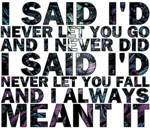 If you didn't have a chance, then I never did. You'll always find me right there, again. Have faith in me- A Day To Remember