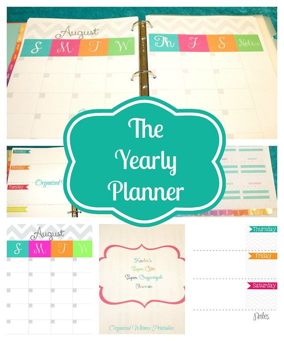 Instant Download Mom Planner Pdf Printableshome By Organizedwhimsy 12 00 Mom Planner Diy Planner Printable Planner