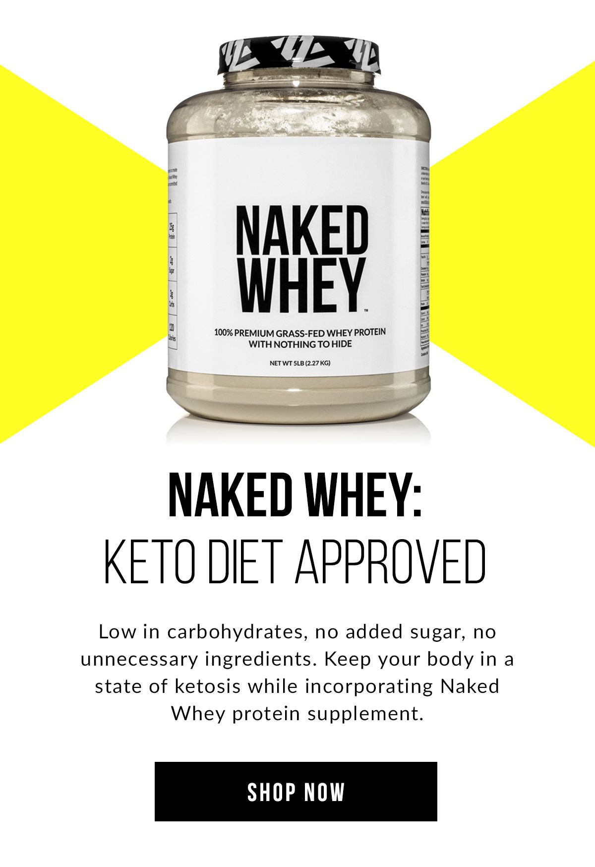 NAKED WHEY: Keto Diet Approved protein powder. #keto #nkdnutrition #wheyproteinrecipes