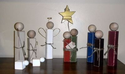 Simple Wooden Nativity Set / christmas xmas ideas - Juxtapost