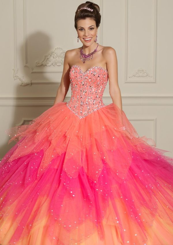 1000  images about Quinceañera dresses on Pinterest - Hot pink ...