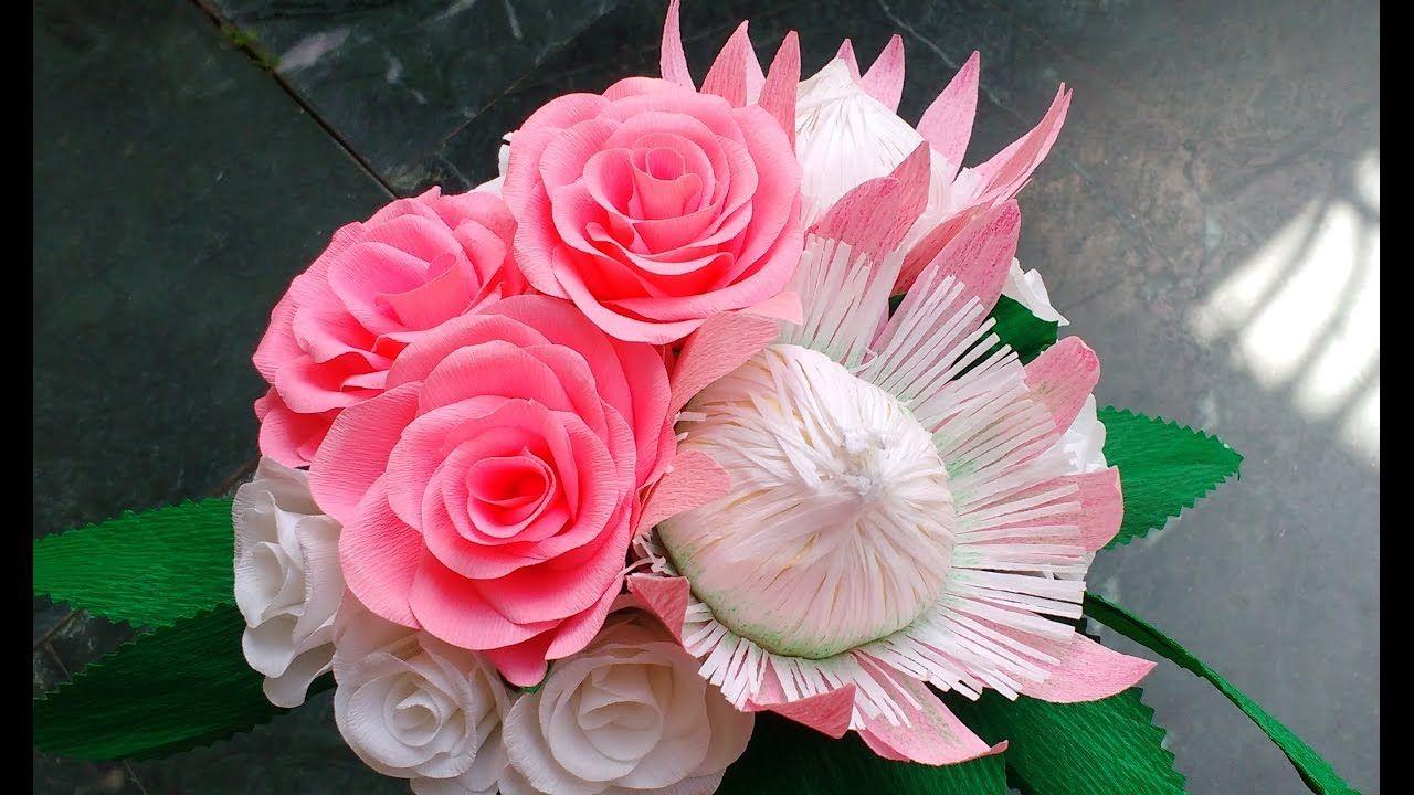 Diy How to make Paper Flower Bouquet | Flores naturales / Naturals ...