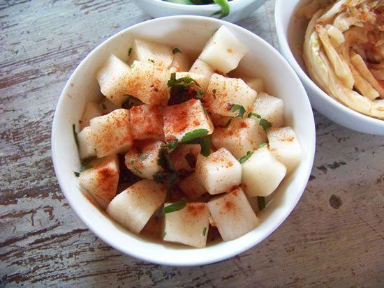 Recette de Salade de navet blanc façon coréenne