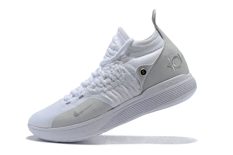 super popular 1098a 65d82 kevin durants nike kd 11 white chrome pure platinum for sale