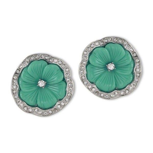 Kenneth Jay Lane Jade Flower Clip Earring Jade qLxzlhE