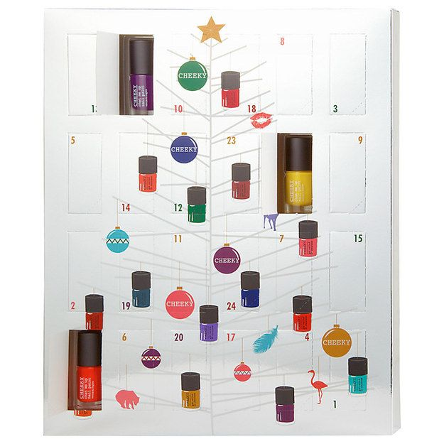 Cheeky Nail Polish Advent Calendar, £49.00 | 17 Advent Calendars All Beauty Addicts Need This Christmas