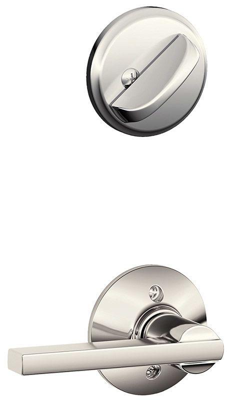 Schlage F59-LAT Latitude Single Cylinder Interior Pack Polished Nickel Handleset Interior Pack Single Cylinder