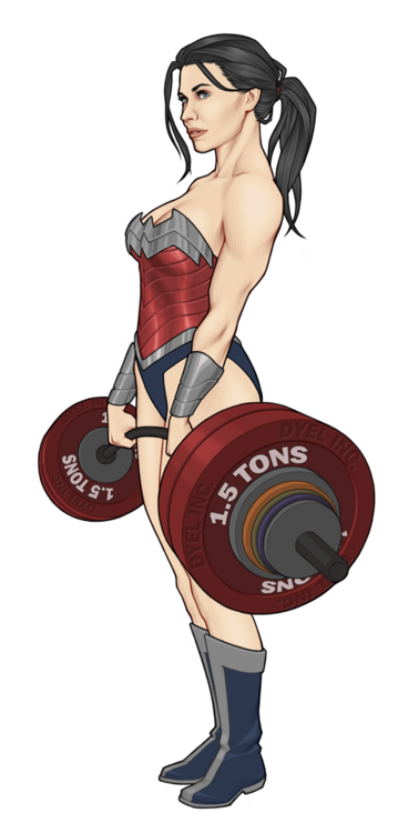 4389e716806ac Wonder Woman. This is how I feel when I do deadlifts.