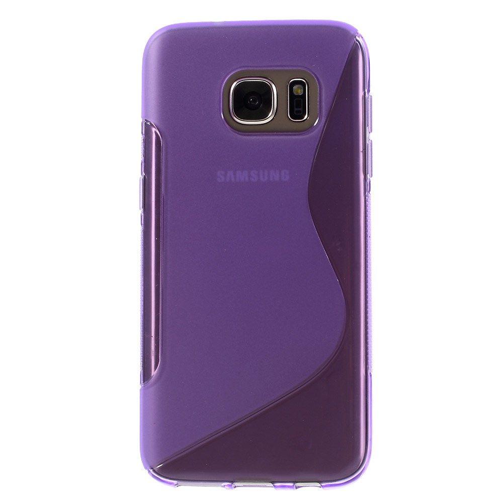 Javu - Samsung Galaxy S7 Hoesje - Zachte Back Case S Shape Paars | Shop4Hoesjes